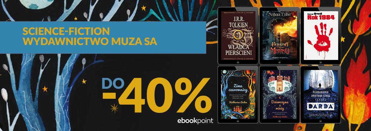 Promocja na ebooki Science fiction / Wydawnictwo Muza / do -40%